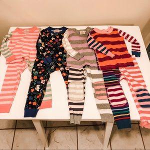 EUC Lot of 4 HA Hanna Toddler Pajamas Size 90